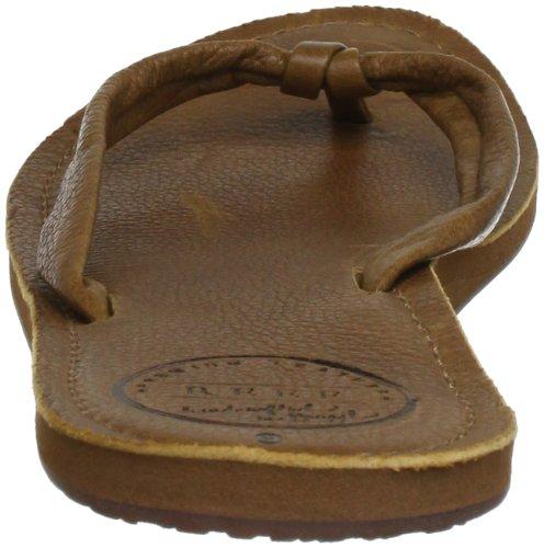 Reef Women's Creamy Leather Flip Flop,Tobacco,8 M US