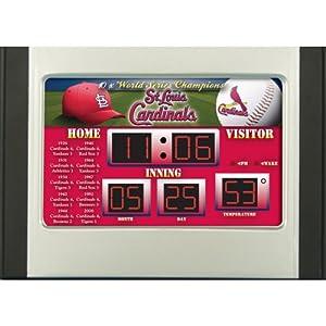 MLB St. Louis Cardinals Scoreboard Desk Clock by Team Sports America