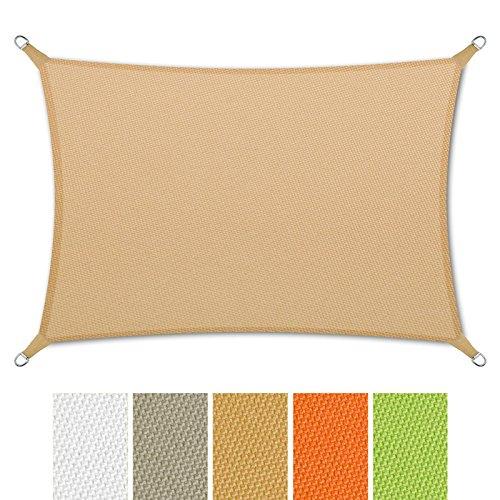 casa pura sonnensegel wasserabweisend impr gniert rechteck uv schutz verschiedene farben. Black Bedroom Furniture Sets. Home Design Ideas