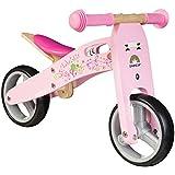 BIKESTAR® 17.8cm (7 pouces) Bois Vélo Draisienne pour enfants ★ Couleur Rose