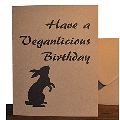 'Veganlicious Birthday' - Handmade Vegan Birthday Card by Good Day Organics