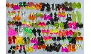 120 truites mouches (NYMPHS SELECTION: 120 FLIES, 60 PATTERNS #10-14: Blobs, Boobies, Fritz blobs, Fritz Boobies, Goldhead Blobs, Goldhead boobies: TROUT FLY FISHING)