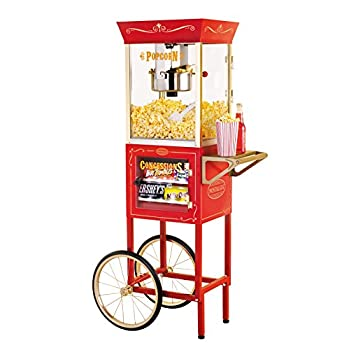 Nostalgia CCP610 59-Inch Tall Vintage Collection 8-Ounce Kettle Popcorn & Concession Cart