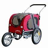 DOGGYHUT Rimorchio porta-cane di dimensioni medio per bicicletta con set da jogging 10201-01