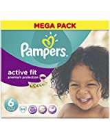 Pampers Mega Box Active Fit Nappies Size 6 - Pack of 64