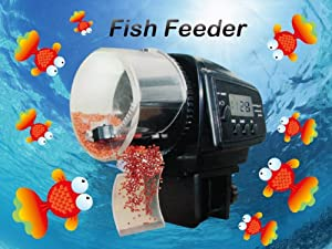 Aquarium Automatic Fish Food Tank Feeder Timer Home BLK