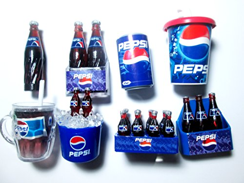 8 Pcs./set Pepsi Fridge Magnet, Collectables Dollhouse Miniature Mini Fridge Magnet