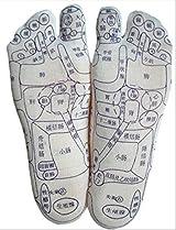 足裏 足つぼ 反射区 プリント くつした ツボ押し スティック付き 選べる9サイズ (42(26cm))