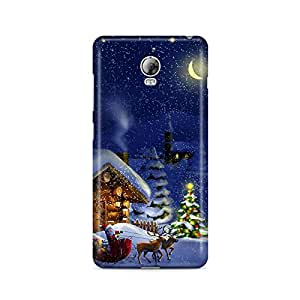 Motivatebox - Lenovo Vibe P1 Back Cover - Christmas Night Polycarbonate 3D Hard case protective back cover. Premium Quality designer Printed 3D Matte finish hard case back cover.