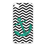 Treasure Design Funny Mint Leopard Chevron Anchor APPLE IPHONE 4or4s Best Silicone Case