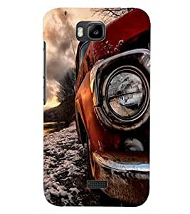 PrintDhaba VINTAGE CAR D-6443 Back Case Cover for HUAWEI HONOR BEE (Multi-Coloured)