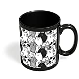 PosterGuy Black & White Cat Pattern Black, White, Cat, Pattern, Cool Black Coffee Mug