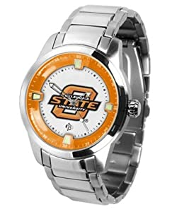 Oklahoma State Titan Mens Steel Watch by SunTime