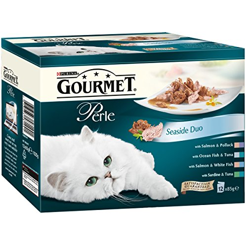 purina-gourmet-perle-wet-cat-food-mini-fillets-in-gravy-12-x-85-g-seaside-duo-pack-of-4