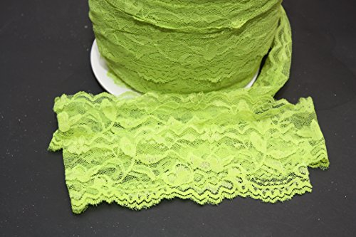 Why Should You Buy Stretch Lace Elastic – 5 Yards – 2 Inch Wide – Trim Lace for Headbands Garters (Lime Green)