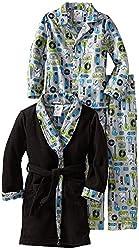 Bunz Kidz Little Boys' Rock Dog 3 Piece Robe And Pajama Set