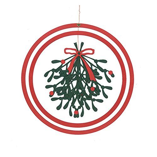 Oda Mobiles(オダモビール) クリスマスの飾り ペーパーリース ヤドリギ(大)