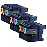 3 Compatible Set of 4 LC127XL / LC125XL Printer Ink Cartridges (12 Inks) - Black / Cyan / Magenta / Yellow for Brother DCP-J4110DW, MFC-J4410DW, MFC-J4510DW, MFC-J4610DW, MFC-J4710DW