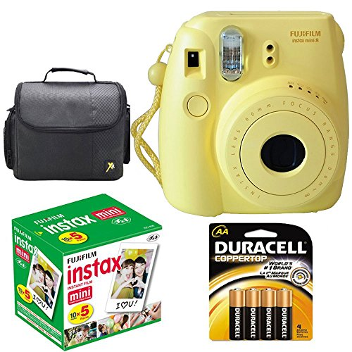 Discover Bargain Fujifilm Instax Mini 8 Instant Film Camera (Yellow) With Fujifilm Instax Mini 5 Pac...