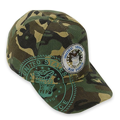 [Debra Weitzner Camouflage Baseball Cap with Adjustable Velcro Back Closure U.S. Armed Forces] (Hats 4 U)