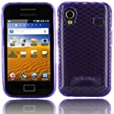 Purple S5830 Gel Silicone Skin Case Cover & Screen Protector Kit for Samsung Galaxy Ace S5830