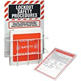 Lockout Procedure Station With Binder & 25 Forms