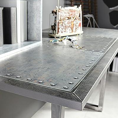 Schreibtisch Industrial-Print-Optik/ Alteisen-Optik