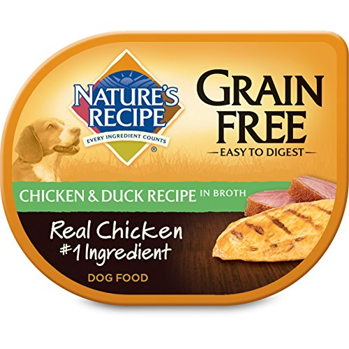 NATURE'S RECIPE 799663 24-Pack Grain Free Chicken and Duck Recipe in Broth for Pets, 2.75-Ounce