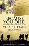 Because You Died: Poetry and Prose of the First World and Beyond