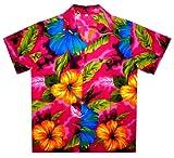 Funky Hawaiian Shirt, Bigflower, pink, L