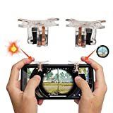 Mobile Game Controller, Mulan (2 Pair) PUGB Mobile Physical Support Triggers Sensitive Shoot and Aim Best for Fortnite Mobile/PUBG Mobile L1R1 Shooting Controller for Android IOS (Color: 2 Pair Mobile Game Trigger)