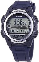 Casio - W-756-2A - Sports - Montre Mixte - Quartz Digital - Cadran LCD - Bracelet Résine Bleu