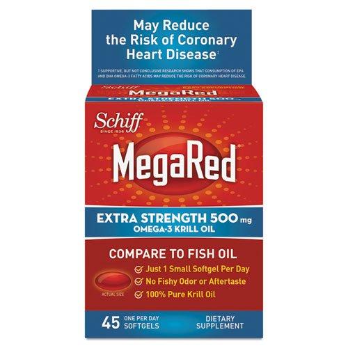 SCHIFF VITAMINS MEGA RED,EXTRA STRENGTH, 45 SGEL (Extra Strength Mega Red compare prices)