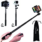 The Best Selfie Stick, Noxu Self-portrait Monopod with Remote; Bluetooth Selfie Stick Iphone 6 Plus, Iphone 5c, Iphone 5s, Android; Compatible with Gopro; Waterproof. Plus Bag/60-day-money-back-guarantee