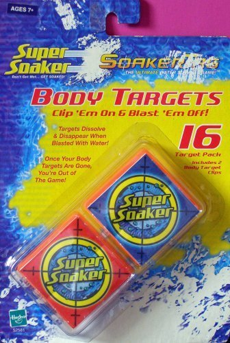 Super Soaker Soakertag Body Targets, 16 Targets with 2 Body Target Clips - 1