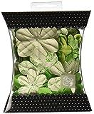 Handmade Paper Flowers-Green Assorted Sizes 60/Pkg