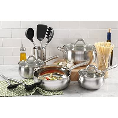 Oster Meryll 13-Piece Apple Shape Stainless Steel Cookware Combo Set