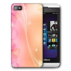 Snoogg Abstract Leaves Pattern Design Printed Protective Phone Back Case Cover For Blackberry Z10