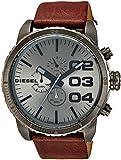 Diesel Herren-Armbanduhr XL Franchise-51 Chronograph Quarz Leder DZ4210