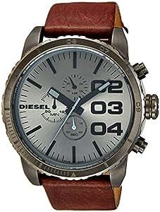 Diesel - DZ4210 - Montre Homme - Quartz Analogique - Cadran Gris - Bracelet Cuir Marron