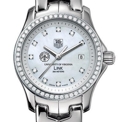 UVA Women's TAG Heuer Link with Diamond Bezel