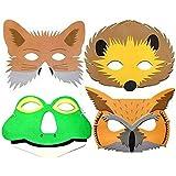 4 Foam Woodland Animal Masks - Childrens British Wildlife Masks
