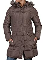 Womens Ladies Quilted Detachable Hooded Womens Designer Padded Jacket Winter Warm Coat