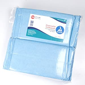 Dynarex #1340 Underpads, 17x24 in. Economy Tissue Fill, 100ct from Dynarex