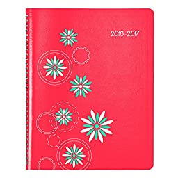 Blueline Silkscreened Academic Monthly Planner, July 2016 to August 2017, Watermelon (CA755.02-17)