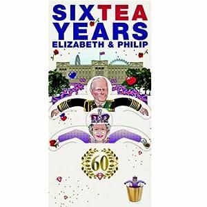 SIXTEA YEARS Prince Philip & Queen Elizabeth Royalty Tea Bags Gift / Royal Wedding Greeting Card