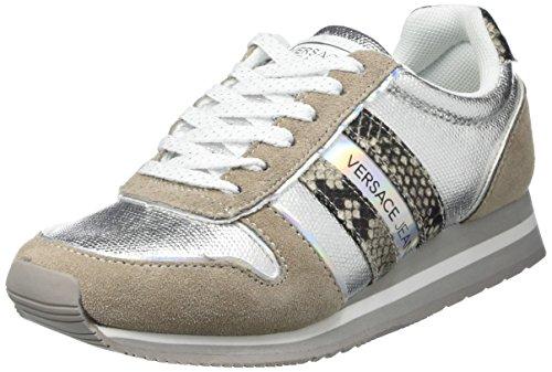 Versace Jeans EE0VNBSA1 Scarpe da atletica Donna, Grigio (Grigio Chiaro (E807), 35