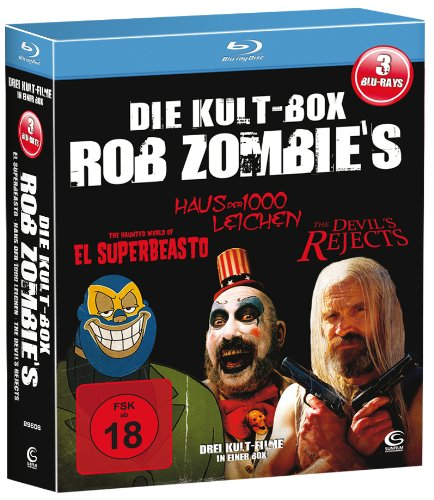 Die Rob Zombie Kult Box - Boxset mit 3 Rob Zombie Knallern (The Devil's Rejects, Haus der 1000 Leichen, El Superbeasto) [3 Blu-rays]