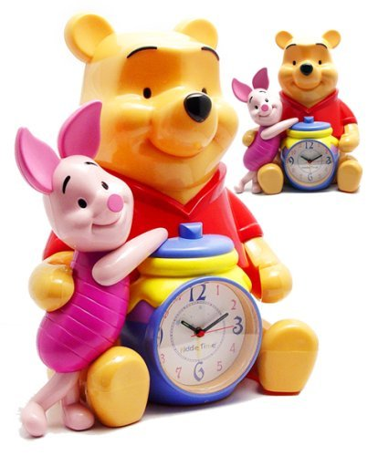 "Disney Winnie The Pooh & Piglet 12"" Talking Alarm Clock & Bank by Triple Store - 1"