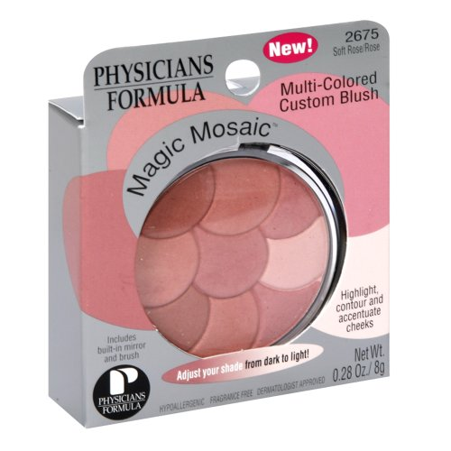 Physicians Formula Magic Mosaic Blush, Soft Rose/Rose, 0.28 Ounce